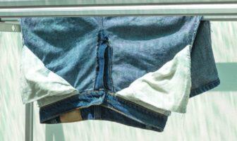 Jeans auf links waschen / trocknen